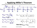 applying miller s theorem
