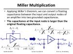 miller multiplication