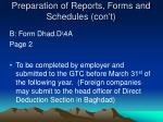 preparation of reports forms and schedules con t3