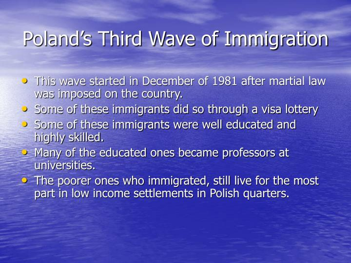 Poland's Third Wave of Immigration
