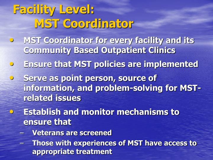 Facility Level: