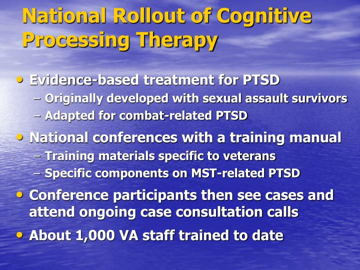 National Rollout of Cognitive Processing Therapy