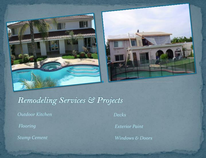 Remodeling Services & Projects