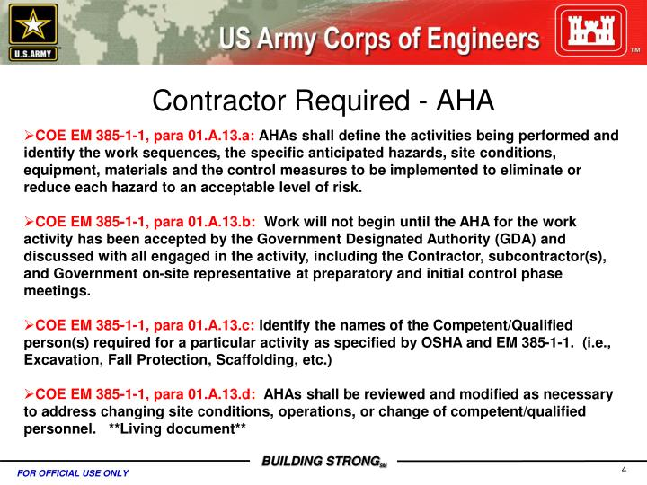 Contractor Required - AHA