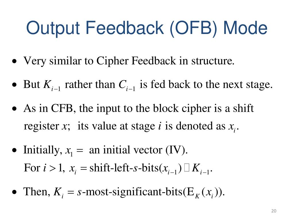 PPT - Block Cipher Modes of Operation and Stream Ciphers