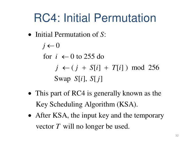 RC4: Initial Permutation
