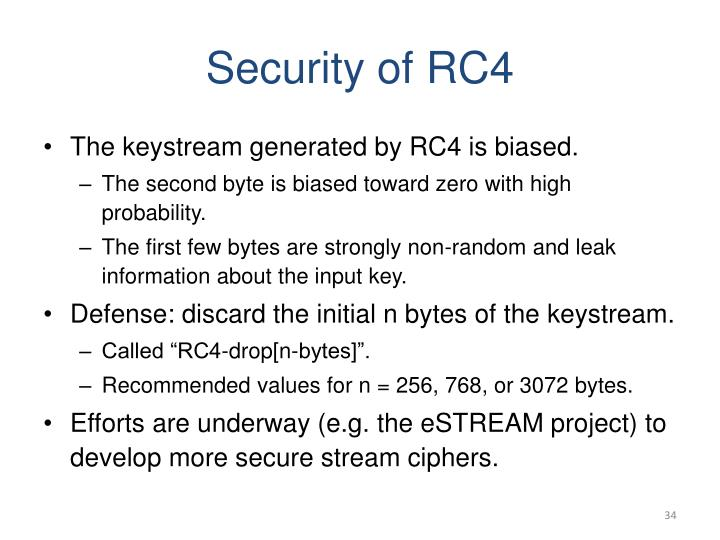 Security of RC4