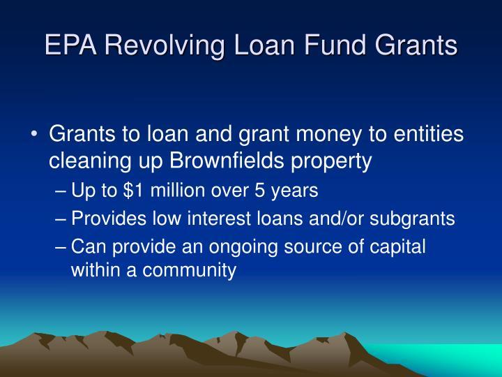 EPA Revolving Loan Fund Grants