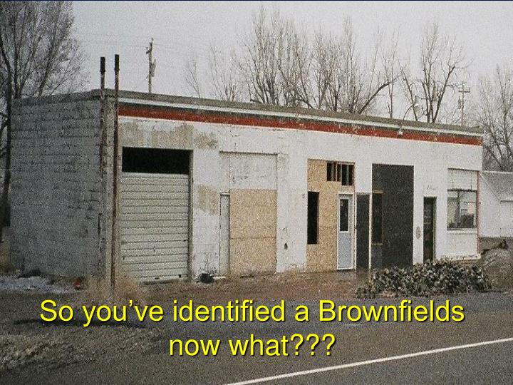 So you've identified a Brownfields now what???