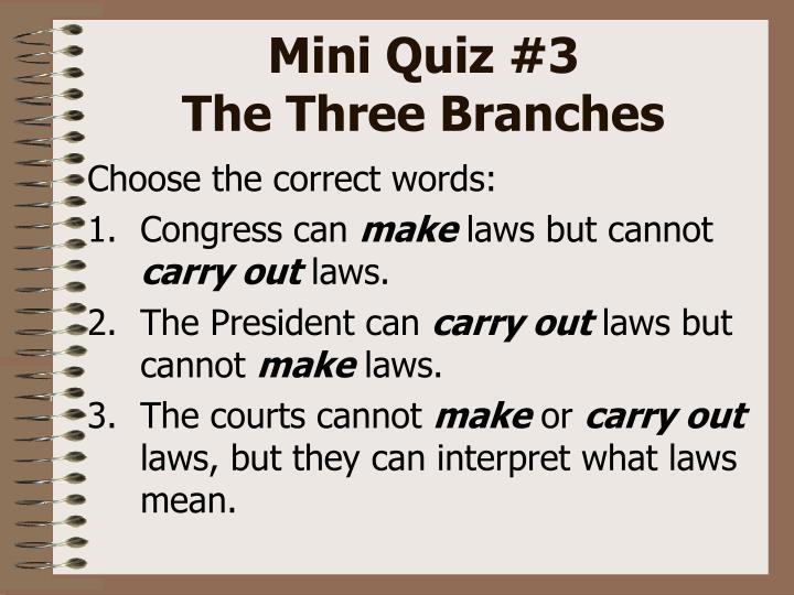 Mini Quiz #3