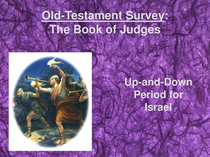old testament survey the book of judges n.