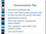 documentation tips
