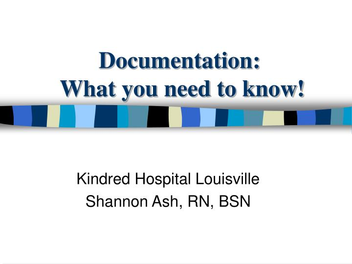 documentation what you need to know n.