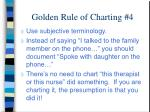 golden rule of charting 4