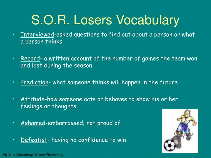 S.O.R. Losers Vocabulary