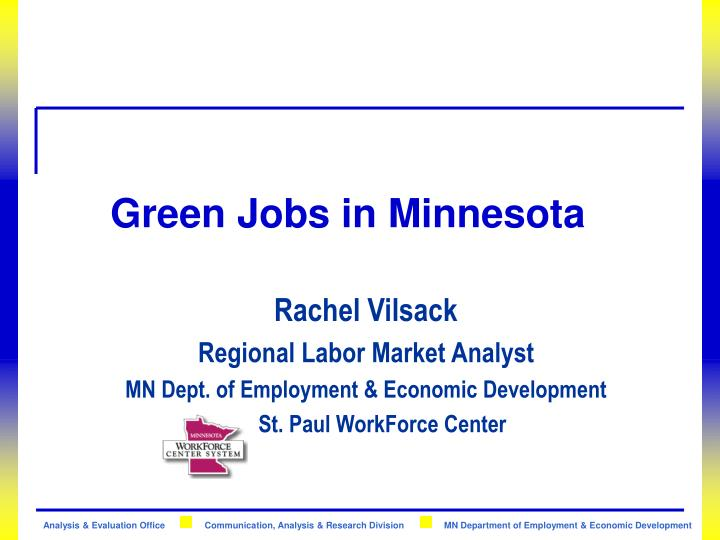 Green jobs in minnesota