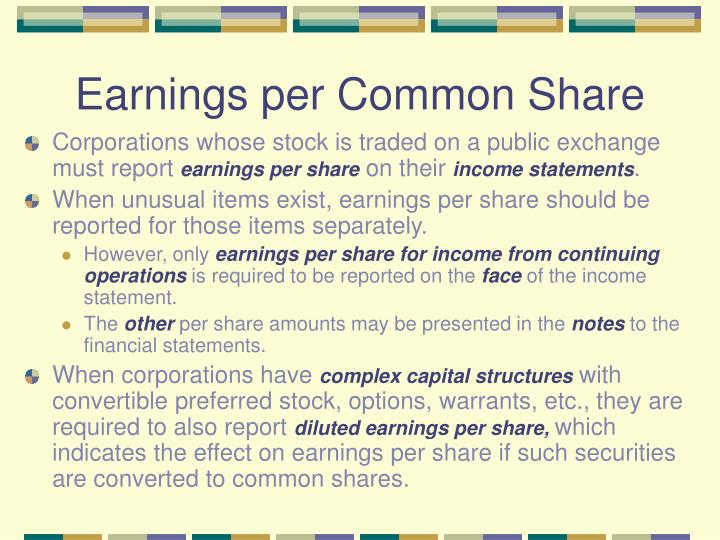 Earnings per Common Share