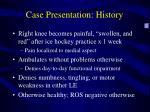 case presentation history1