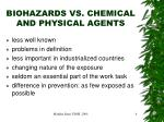 biohazards vs chemical and physical agents