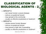 classification of biological agents 2