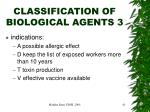 classification of biological agents 3