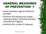 general measures of prevention 1