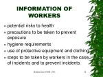 information of workers
