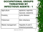 occupational groups threatend by infectious agents 1