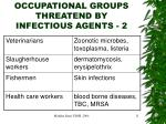 occupational groups threatend by infectious agents 2
