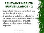 relevant health surveillance 2