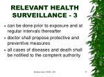relevant health surveillance 3