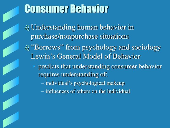 Consumer behavior2