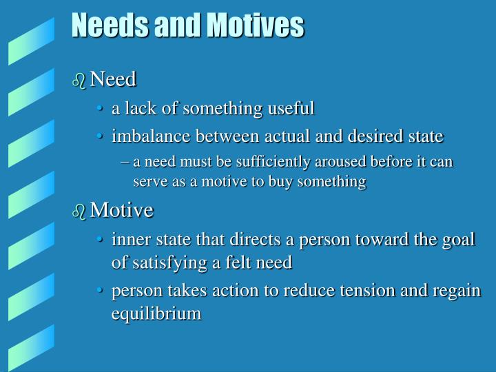 Needs and Motives