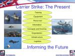 carrier strike the present