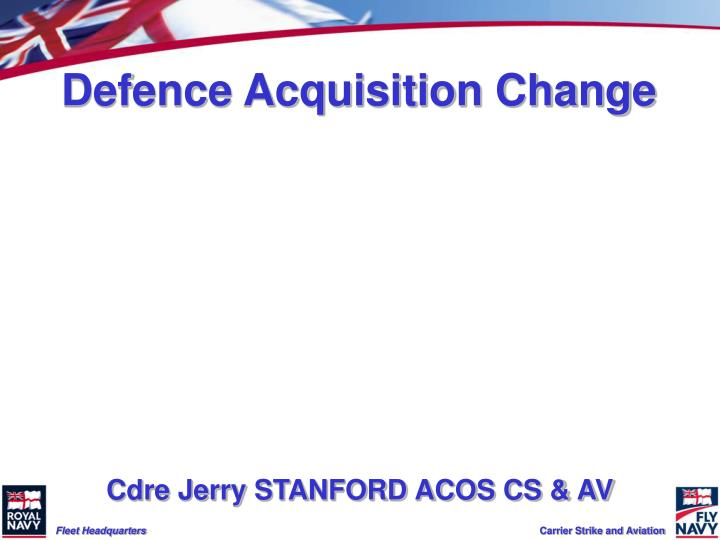 defence acquisition change n.