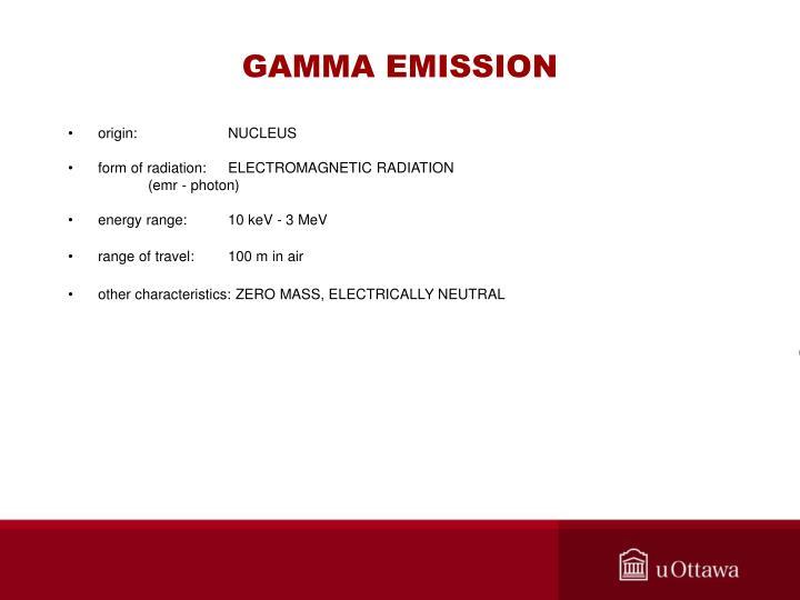 GAMMA EMISSION