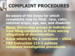 complaint procedures1