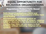 equal opportunity for religious organizations1