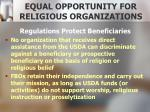 equal opportunity for religious organizations2
