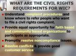 what are the civil rights requirements for wic2