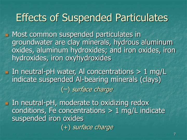 Effects of Suspended Particulates