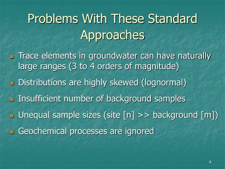 Problems With These Standard Approaches