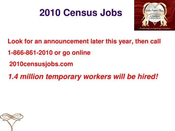 2010 Census Jobs