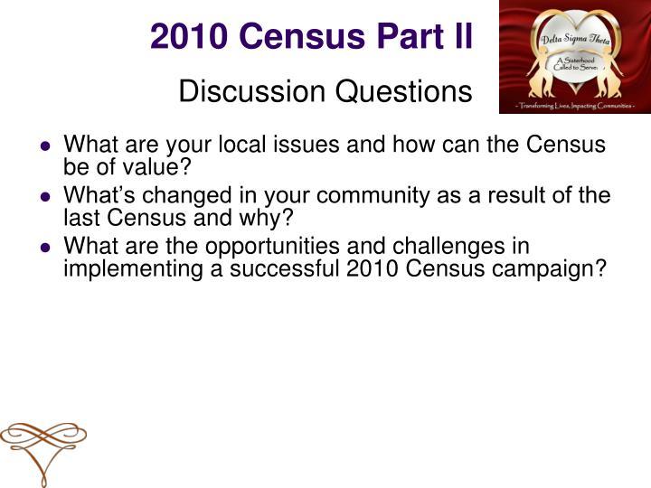 2010 Census Part ll