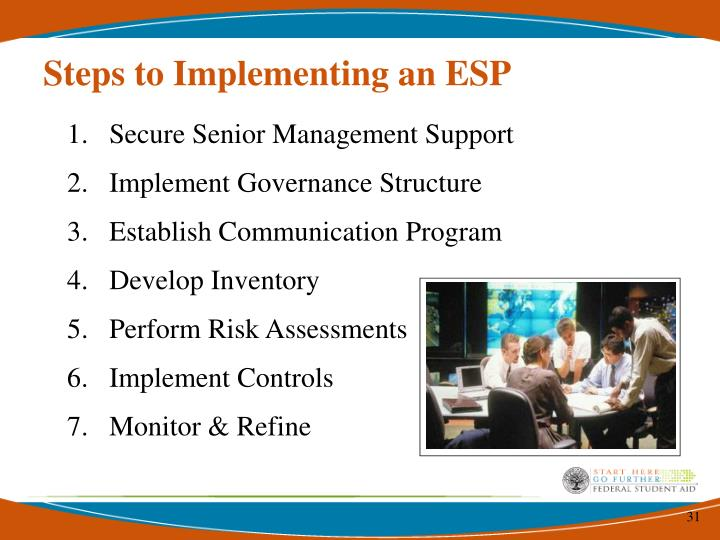 Steps to Implementing an ESP