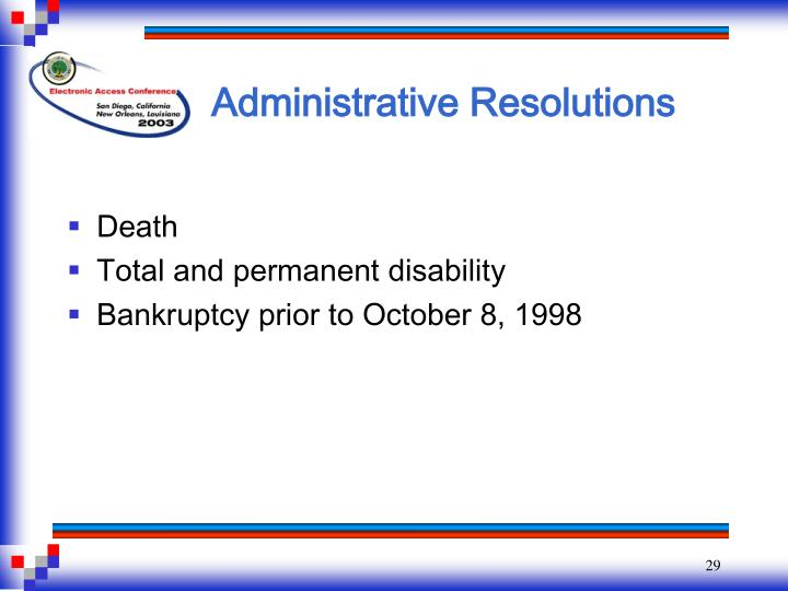 Administrative Resolutions
