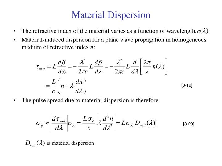 Material Dispersion