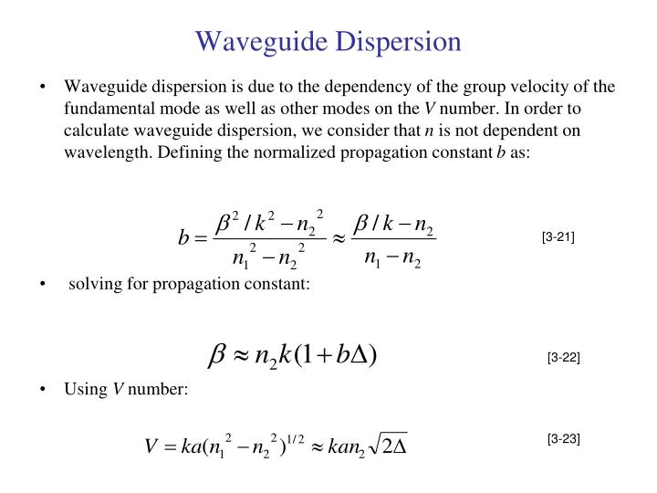 Waveguide Dispersion