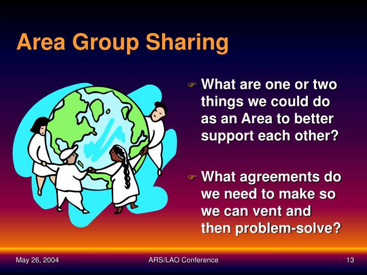 Area Group Sharing
