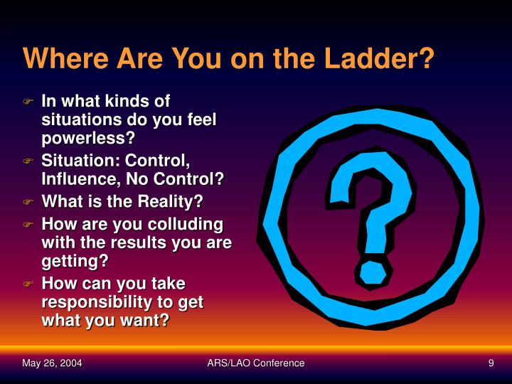 Where Are You on the Ladder?